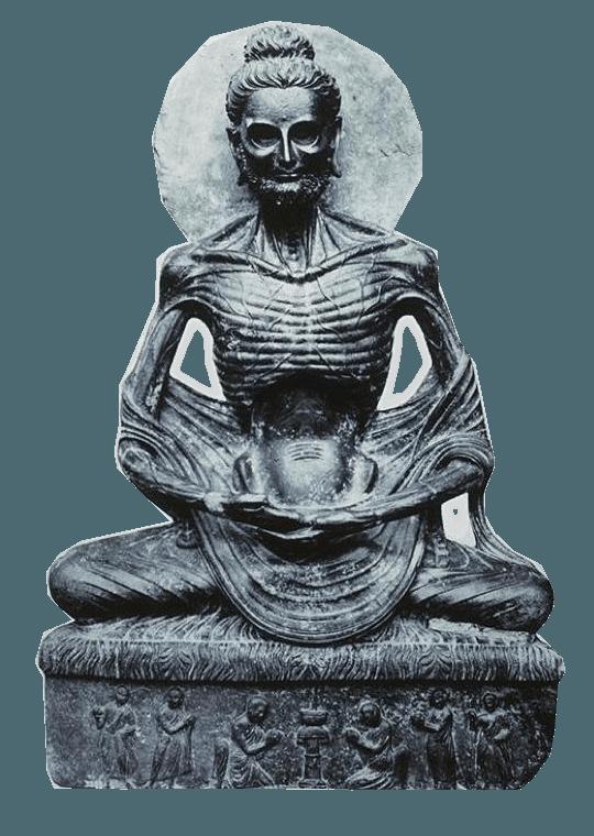 buddha skeleton