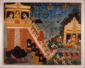 Buddha's Descent from Tāvatiṁsa